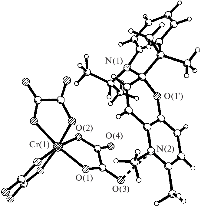 664x681 Fig. 1. Fragment Of The Crystal Structure Of The Sp 3 Cr(C 2 O 4