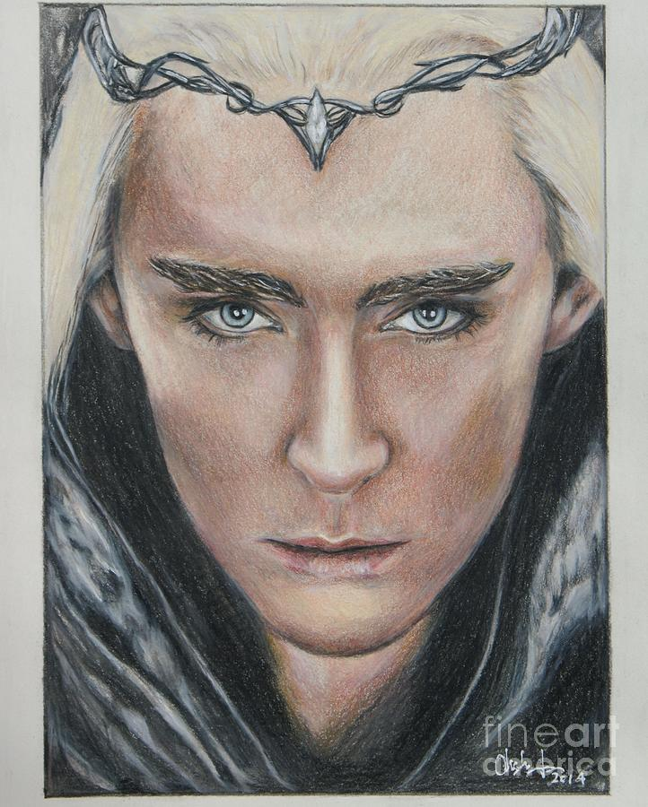 722x900 Thranduil Lee Pace Drawing By Christine Jepsen