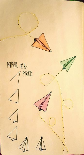347x640 Paper Airplanes Are Fun To Draw Pinterest Bullet