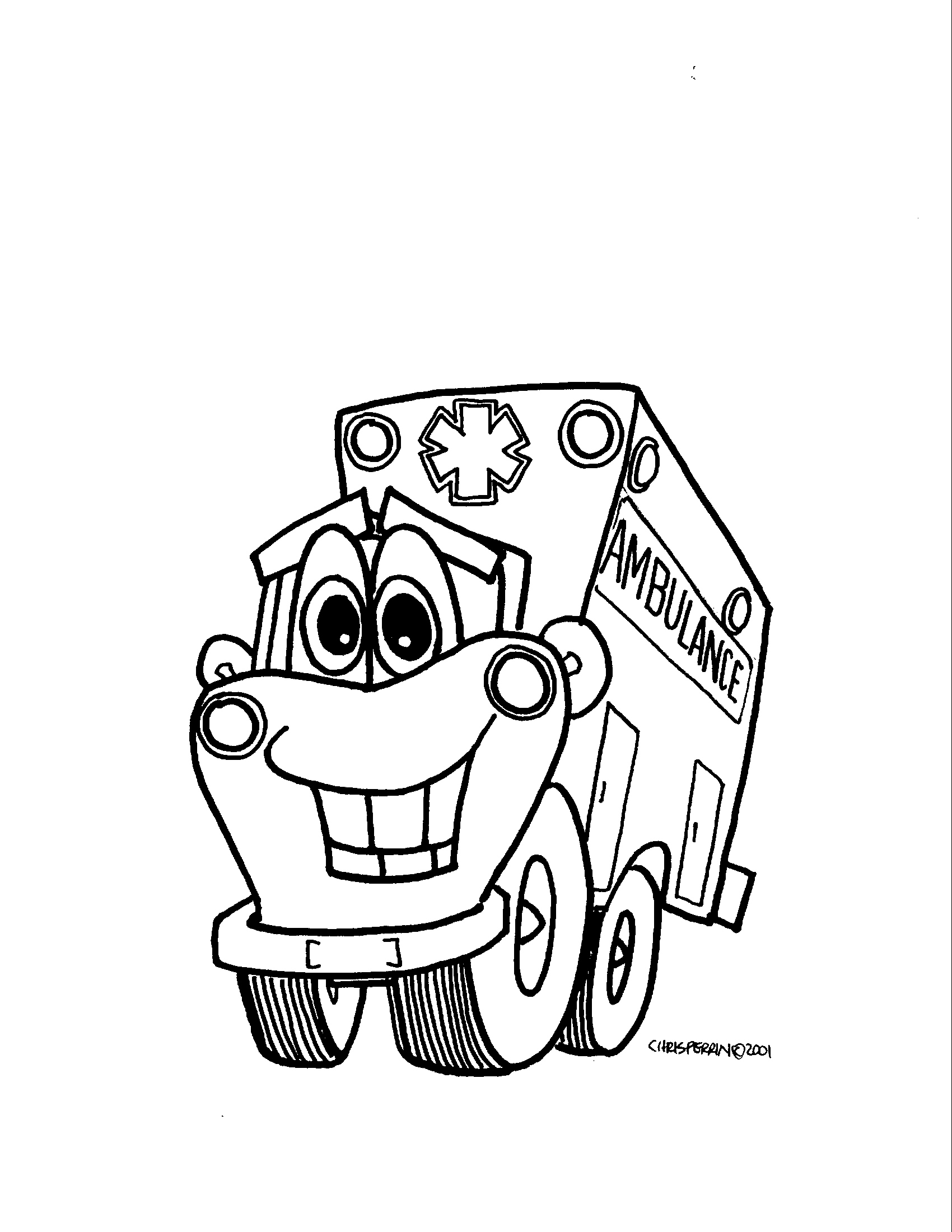 1700x2200 Old Fashioned Paramedic Coloring Pages Ornament