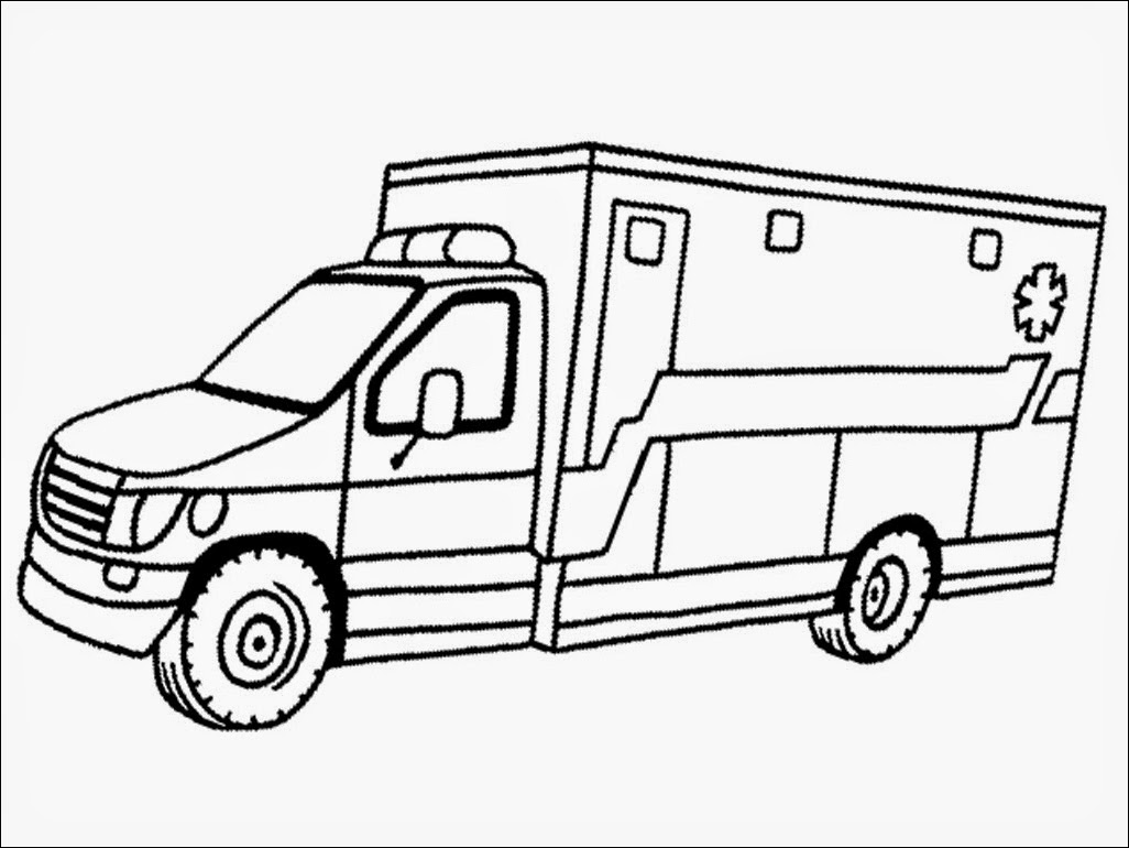 1026x770 Ambulance Coloring Page Coloring Home, Paramedic Coloring Pages