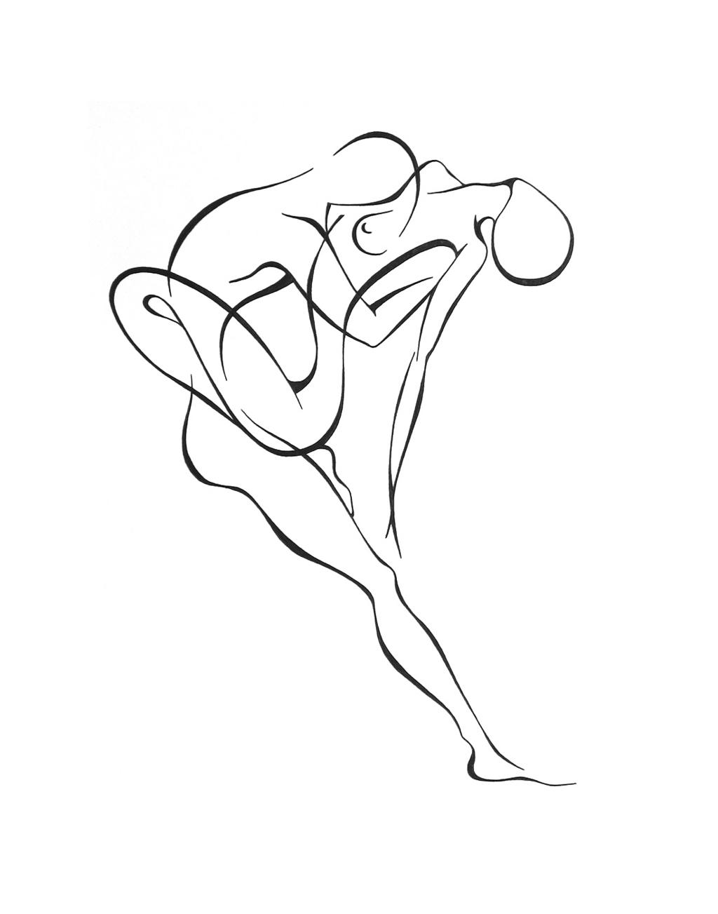 1024x1303 Lyudmila Kogan Artwork Passion 2 Original Drawing Pen