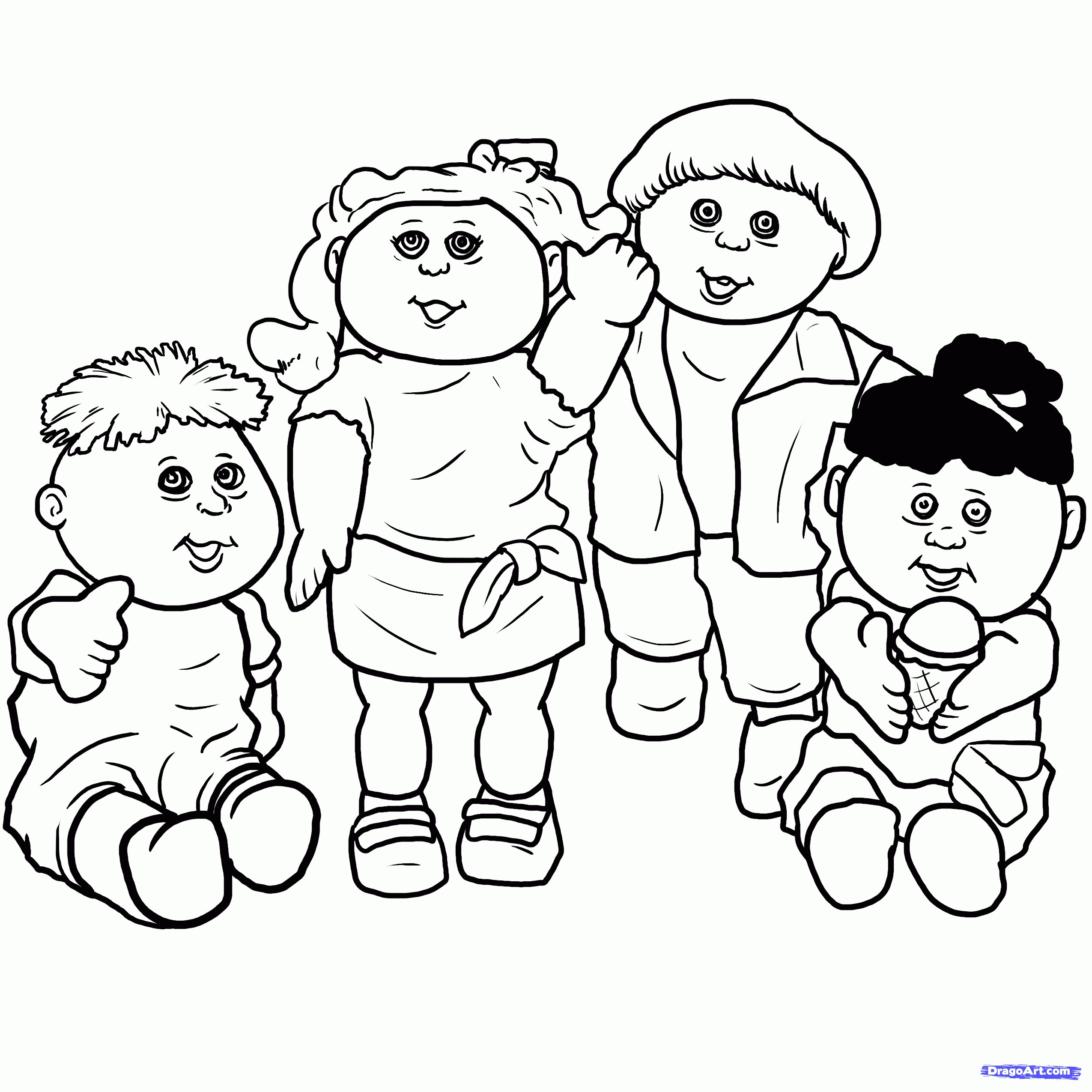 2550x2550 Kids Drawings Images New How To Draw Cabbage Patch Kids Cabbage