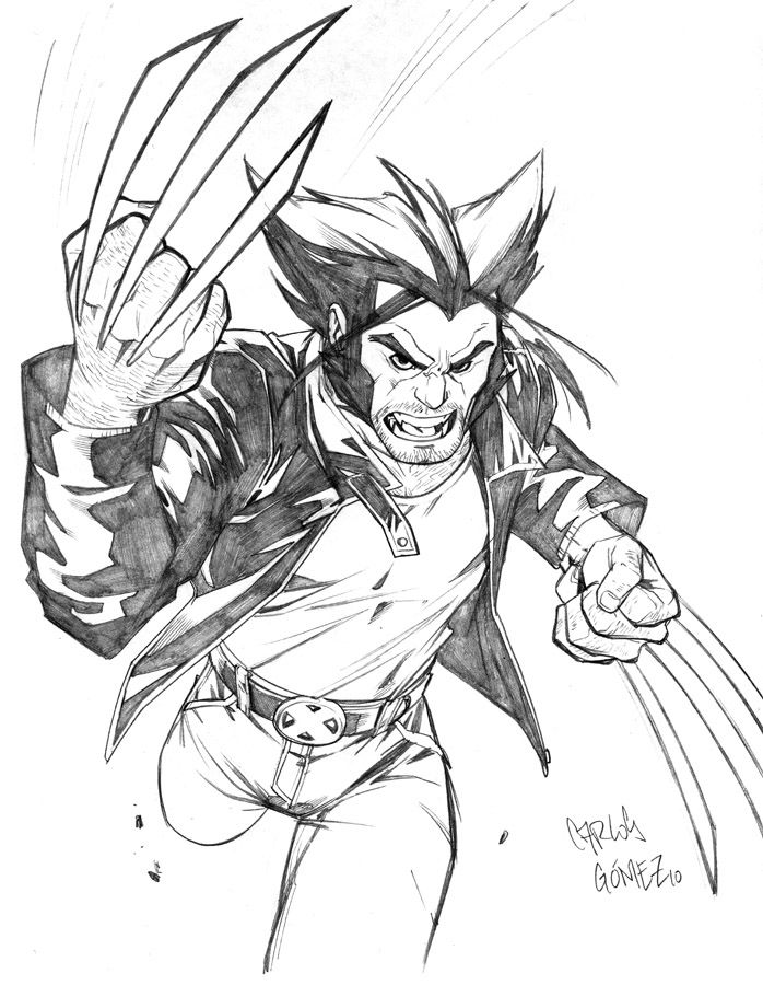 Pencil Drawing Of Wolverine