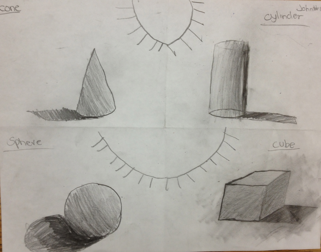 1024x802 Pencil Shading Drawings For Kids Drawing And Shading Geometric