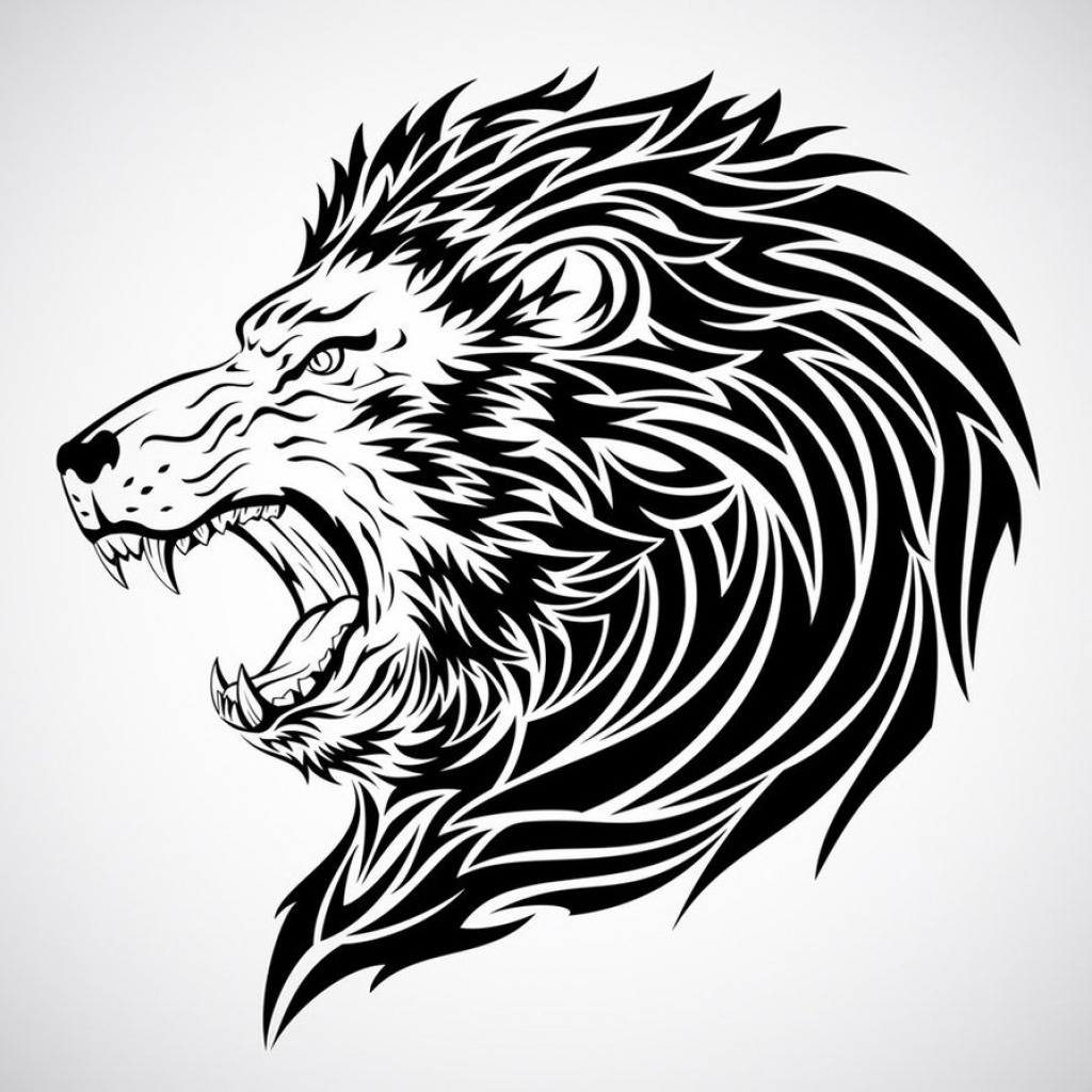 1024x1024 Pencil Shading Drawings Of Lion Lion Shading Drawing