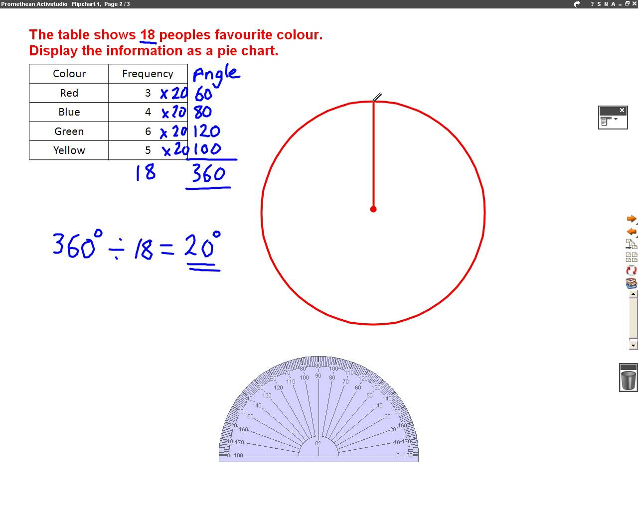 1280x1024 How To Draw A Pie Chart Mathscast