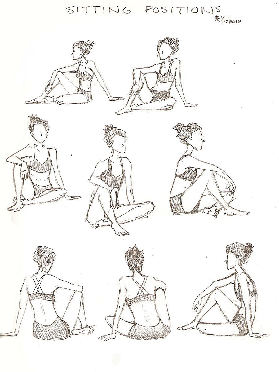 900x1200 How To Draw A Sitting Person People Drawing Sitting Poses Sketch