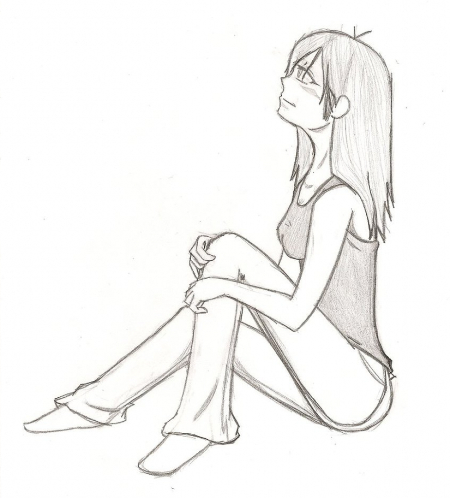 925x1024 How To Draw A Sitting Person Photos Drawing People Sitting Down