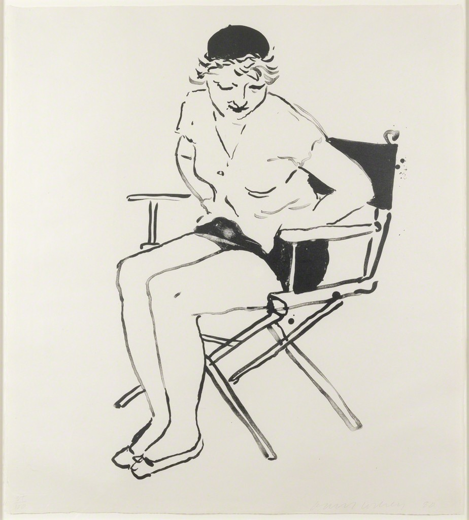 924x1024 David Hockney Celia In The Director's Chair (1980) Available