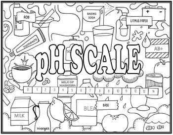 350x273 Ph Scale (Acids Amp Bases) Seek And Find Science Doodle Page By Ezpz