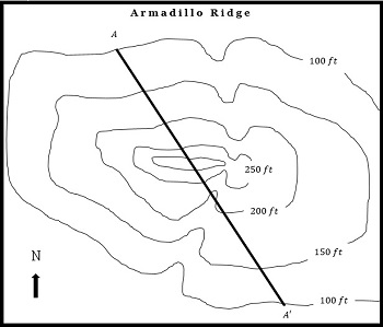 350x299 How To Construct A Cross Section From A Map