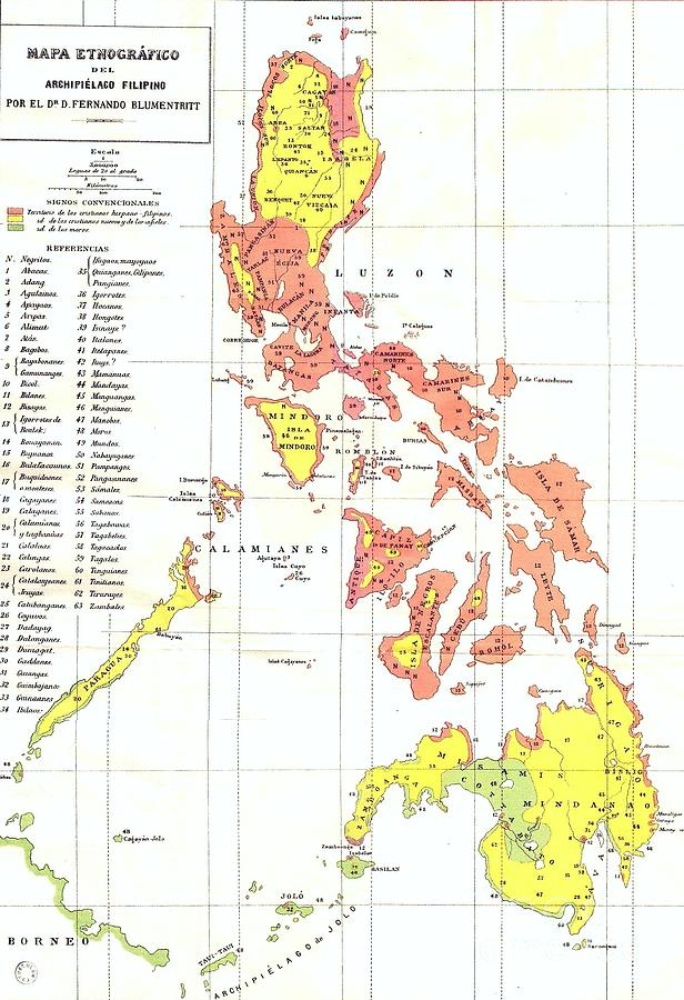 616x900 Ethnographic Map Philippines Drawing By Roberto Prusso