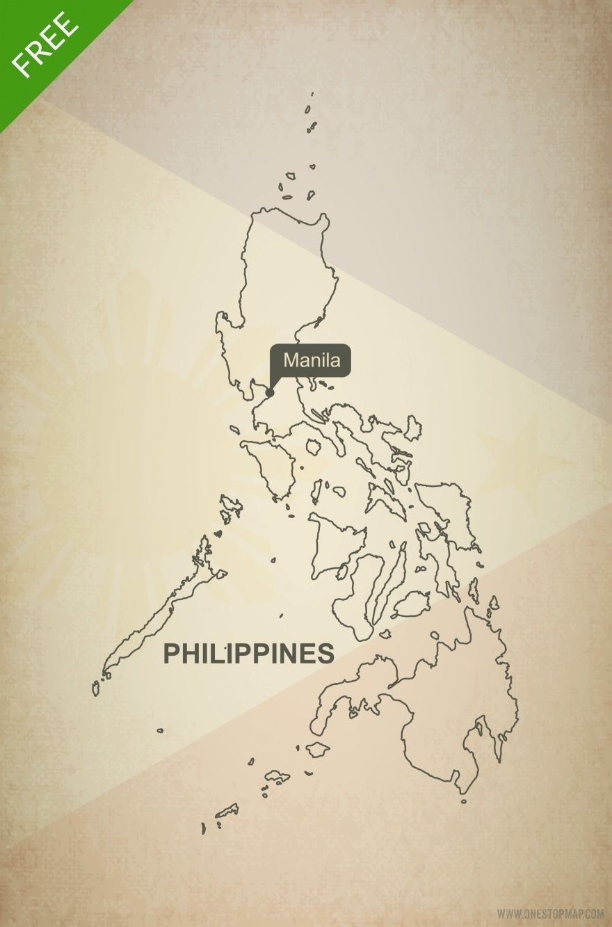 880x1333 Free Vector Map Of Philippines Outline Outlines