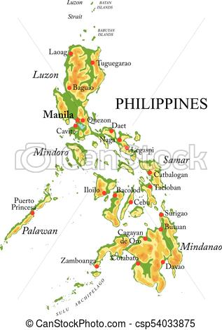 317x470 Philippines Relief Map. Highly Detailed Physical Map Of Vectors