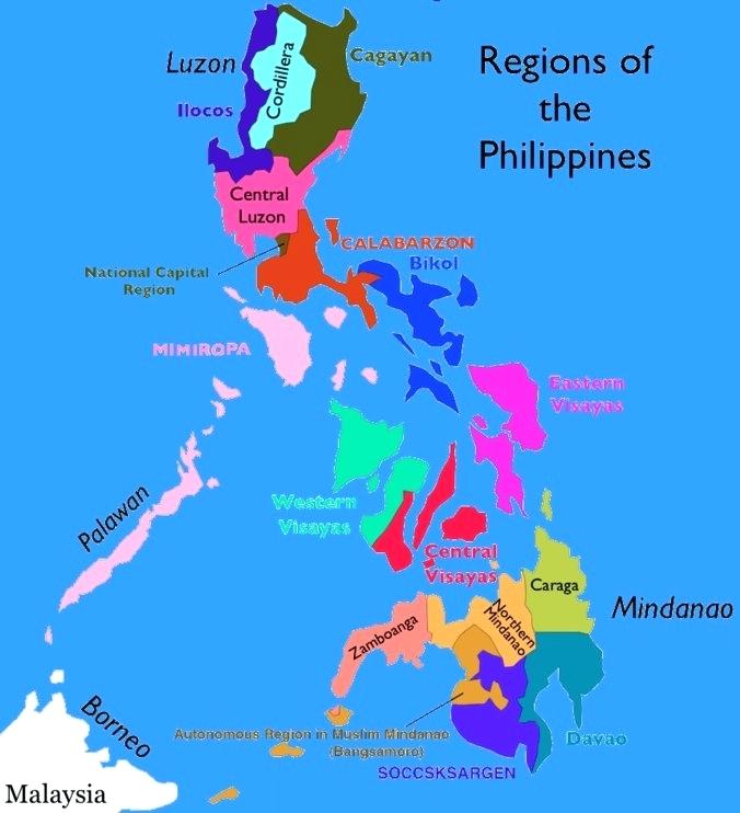 676x742 Map Of The Philippnes