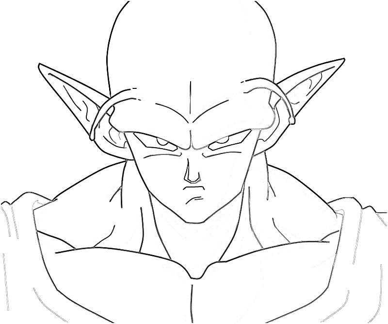 800x667 Piccolo Drawing Labels Piccolo, Dragon Ball Z Piccolo Coloring