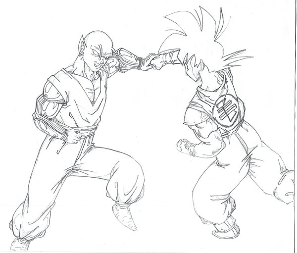 600x511 Goku Vs. Piccolo By The Z Fighters