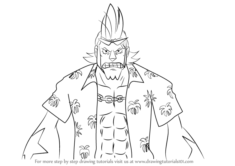 800x566 Learn How To Draw Franky From One Piece (One Piece) Step By Step