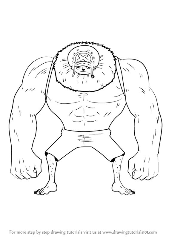 566x800 Learn How To Draw Chopper Heavy Point From One Piece (One Piece