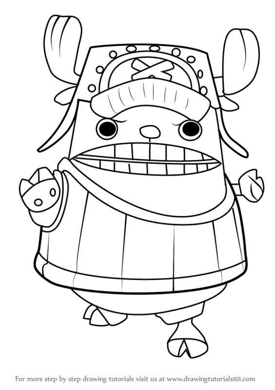 565x800 Learn How To Draw Chopper Kung Fu Point From One Piece (One Piece