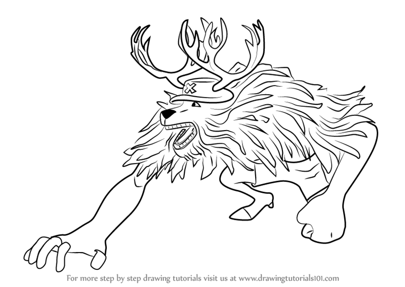 800x567 Learn How To Draw Chopper Monster Point From One Piece (One Piece