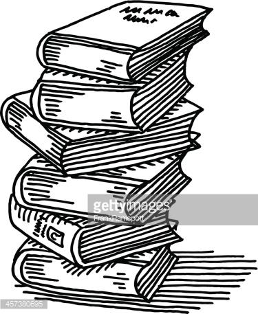 375x457 Drawn Book Pile