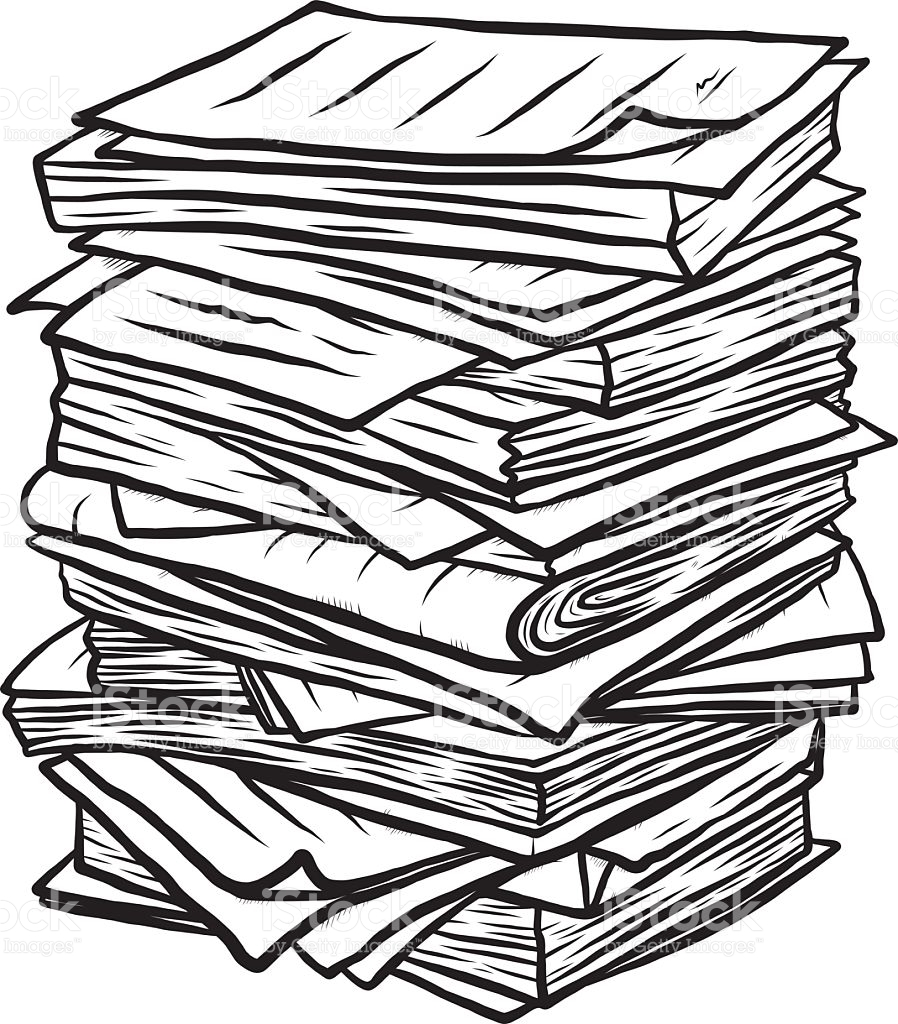 898x1024 Newspaper Clipart Pile