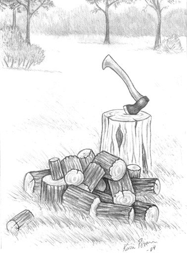 378x511 Pile Of Wood By Imaginarykarin