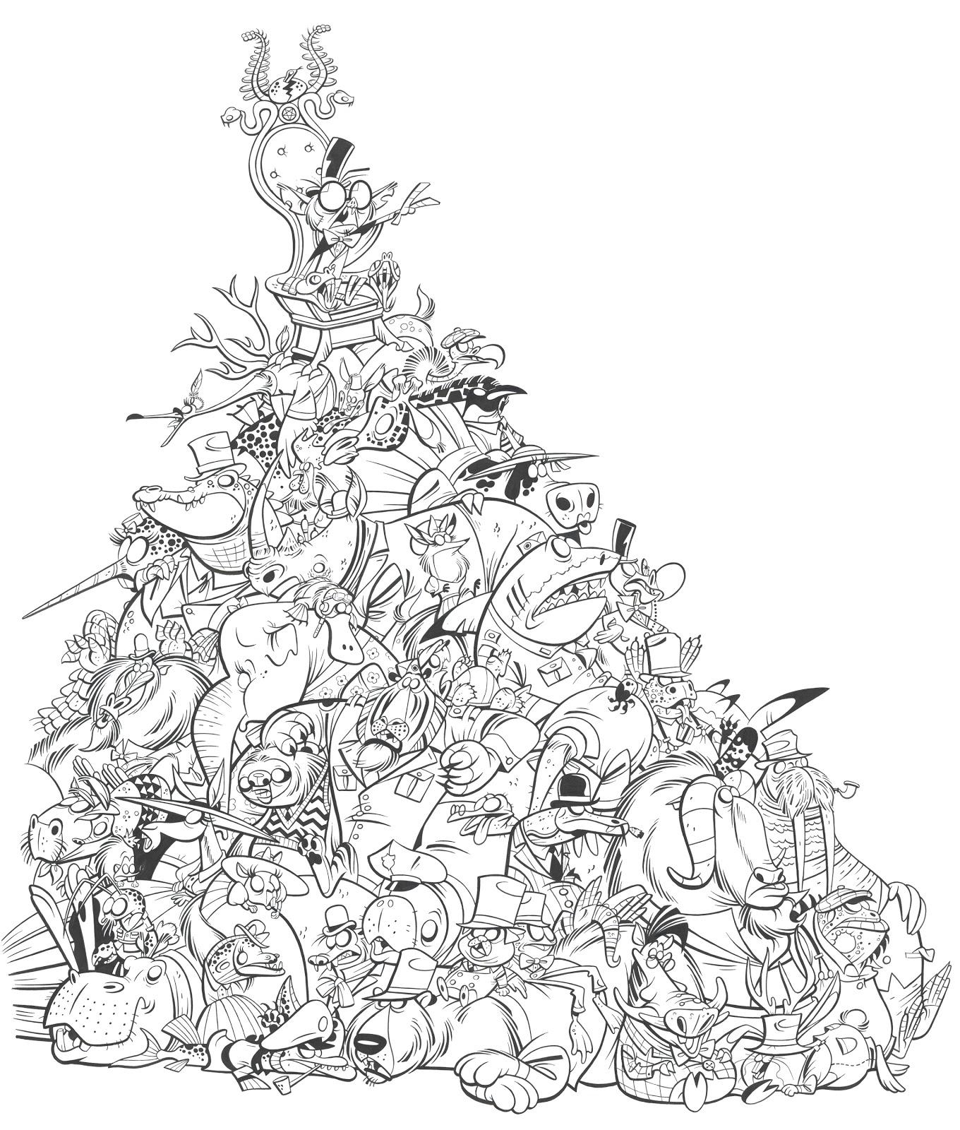 1360x1600 Ben Balistreri Animal Pile Inked