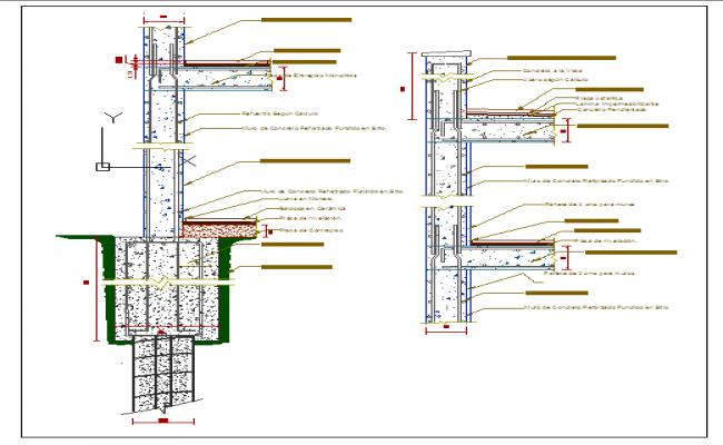 650x400 Pile Foundation Details Dwg File