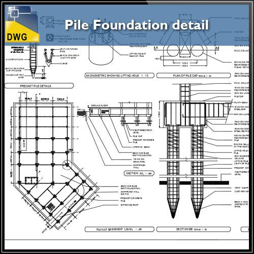 500x500 Pile Foundation Details Cad Design Free Cad Blocks,drawings