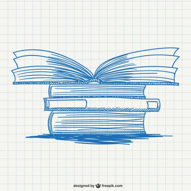 626x626 Pile Of Books Drawing Vector Free Download