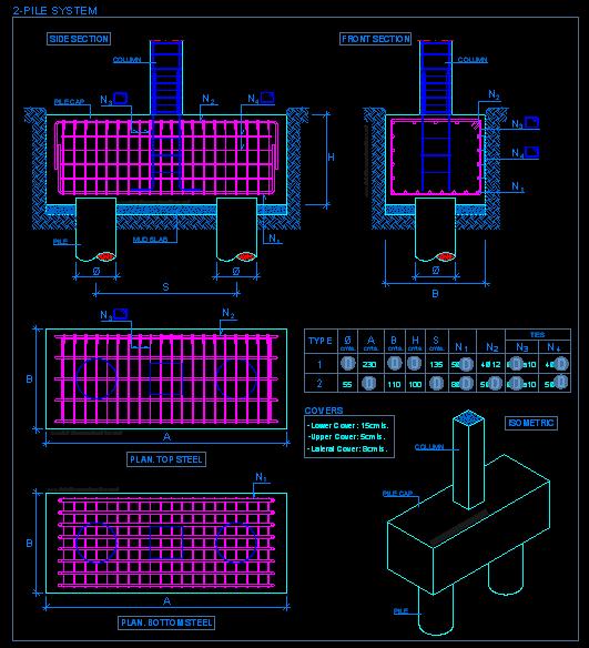 531x584 Pile Caps