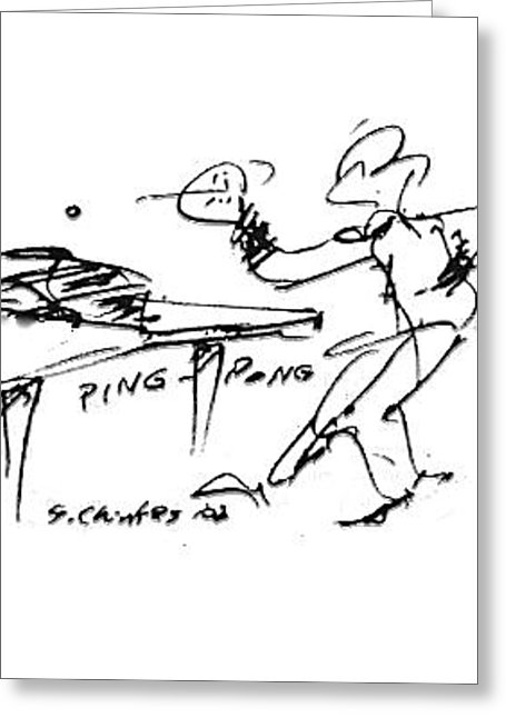 455x646 Ping Pong Drawing By Sam Chinkes