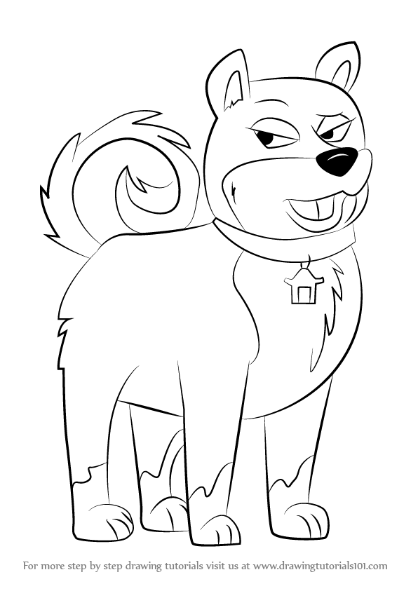 596x843 Learn How To Draw Agent Ping From Pound Puppies (Pound Puppies