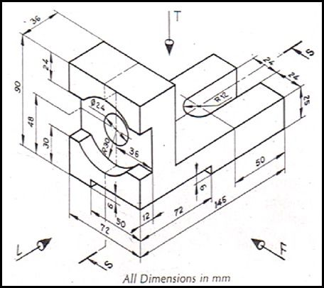 456x406 Collection Of Autocad Mechanical Isometric Drawing Exercises