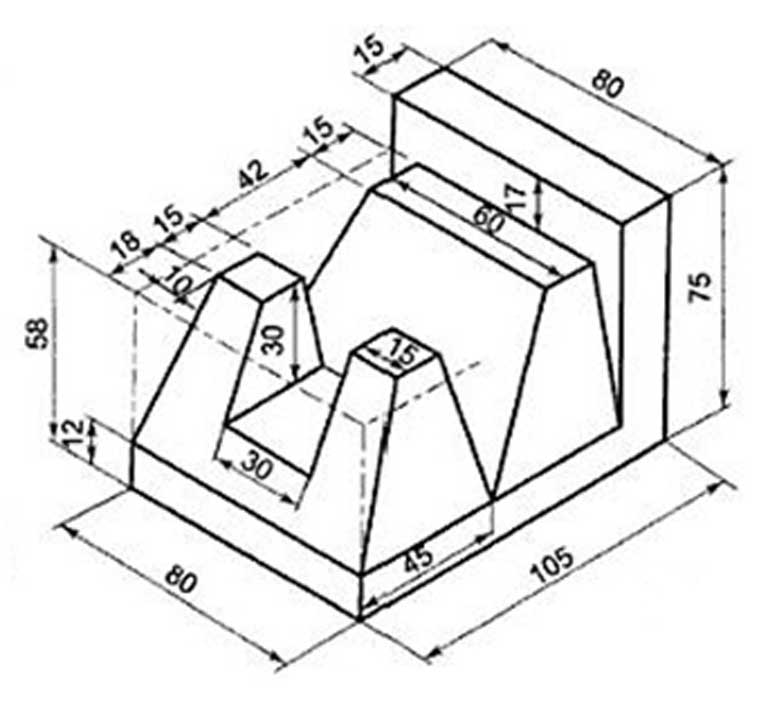 768x703 Collection Of Complex Isometric Drawing Exercises High