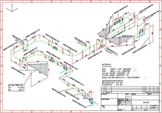 650x454 Collection Of Piping Isometric Drawing Autocad High Quality