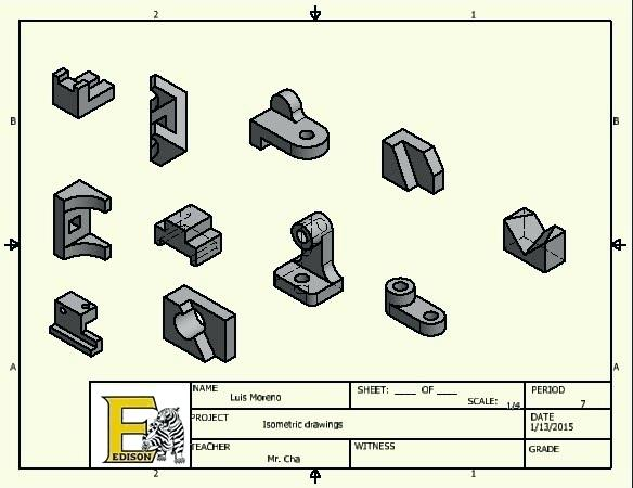 584x450 Isometric Drawing Template And Drafting Isometric Examples