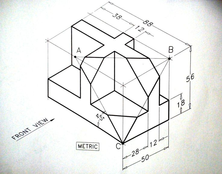 736x578 Collection Of Hard Isometric Drawing Exercises High Quality
