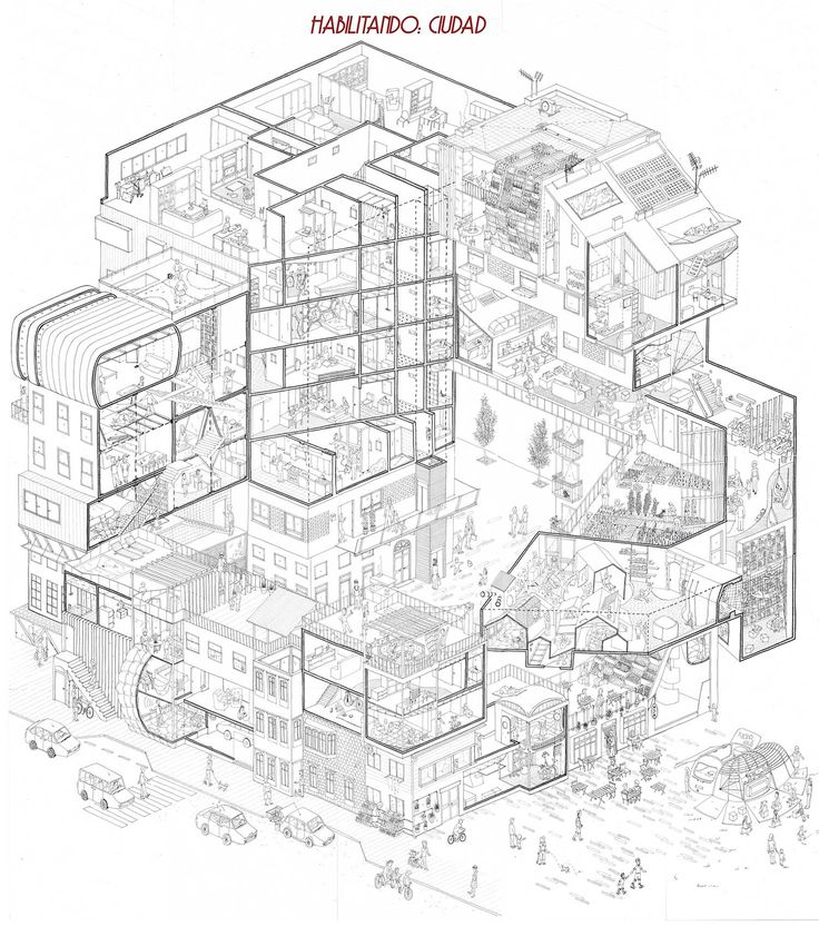 736x841 The 56 Best Planssections Images On Architecture