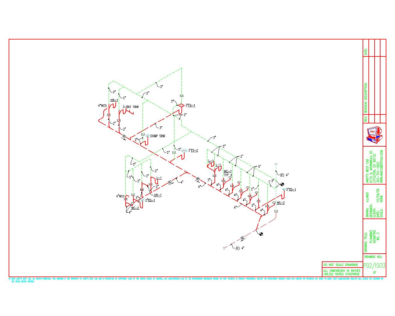 1280x1024 AutoCAD Plumbing Drafting Samples