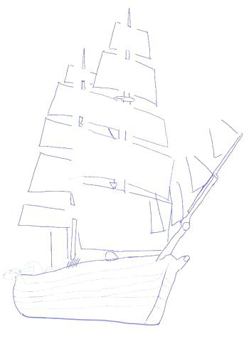 350x476 How To Draw A Ship Drawing Boats Like Speedboats And Pirate Ships