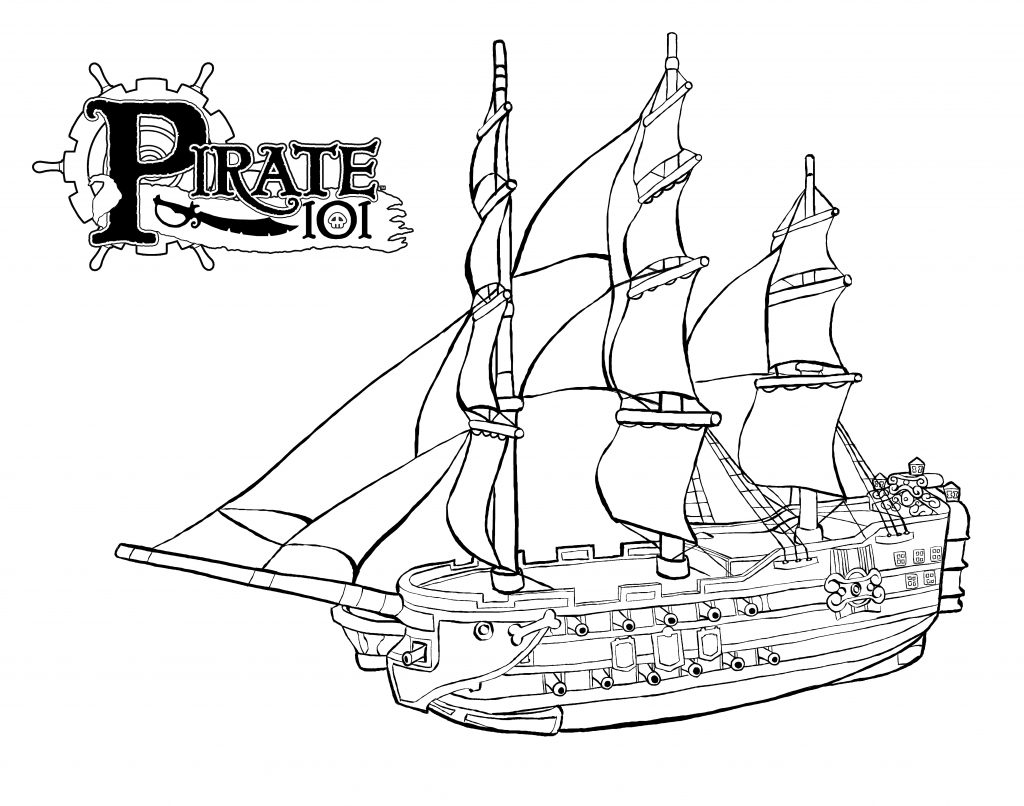 1024x806 Pirate Ship Printables Style Dom