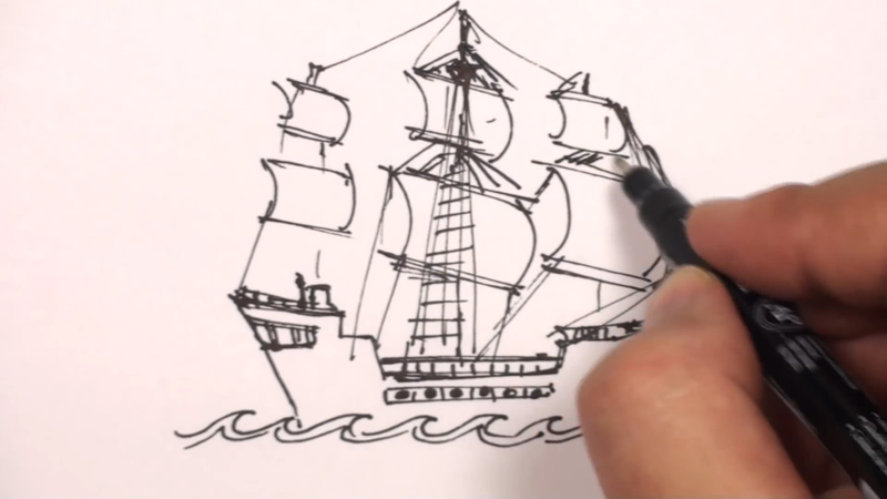 800x450 How To Draw A Pirate Ship