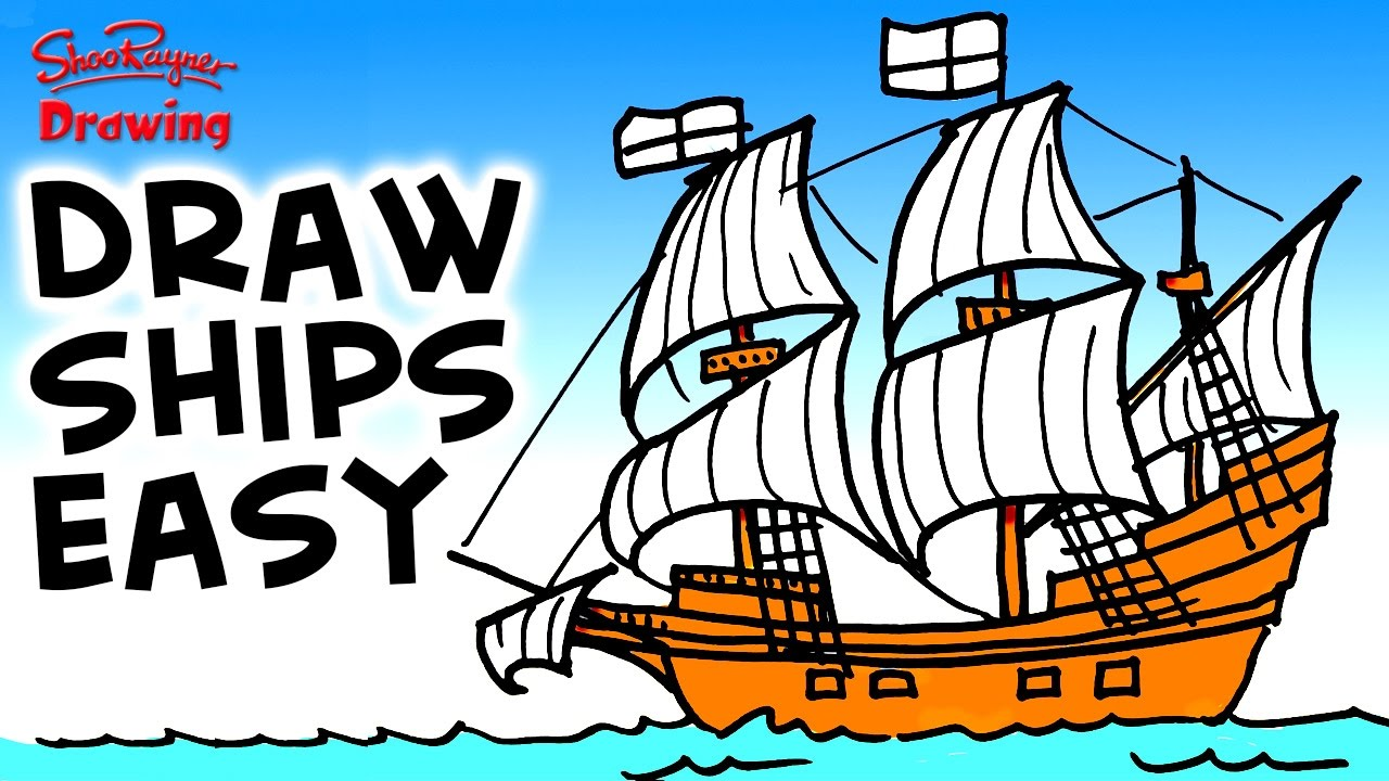 1280x720 How To Draw The Mayflower Easy Step By Step For Beginners