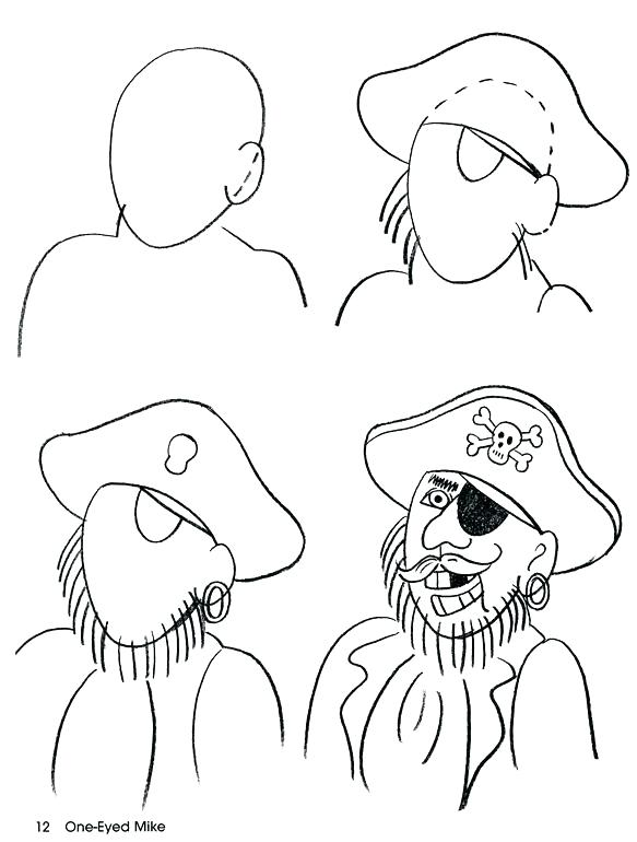 583x770 How To Draw A Pirate Also How To Draw A Pirate Ship And Pirate
