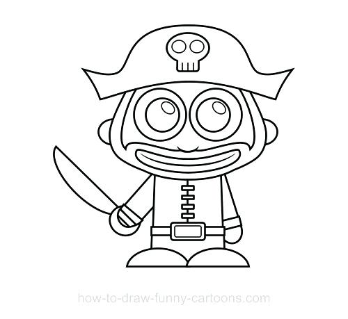 500x459 How To Draw A Pirate Also Simple Pirate Ship Drawing Simple Pirate