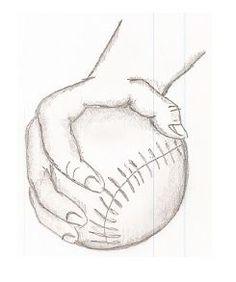 236x282 Softball Pitcher's Grip For Fastball Softball
